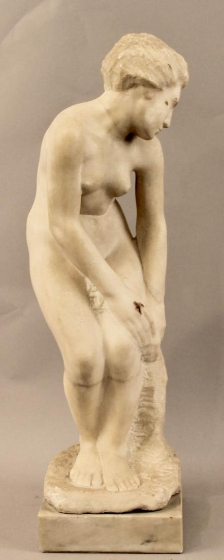 Alabaster Sculpture of Nude Woman - 4