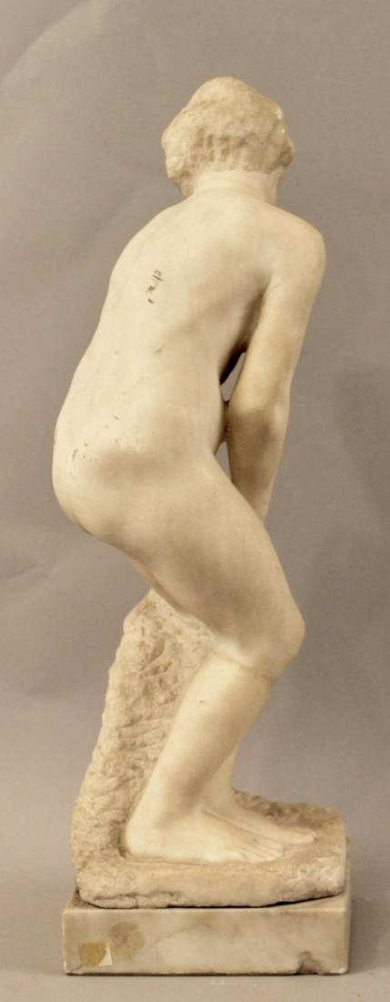 Alabaster Sculpture of Nude Woman - 5
