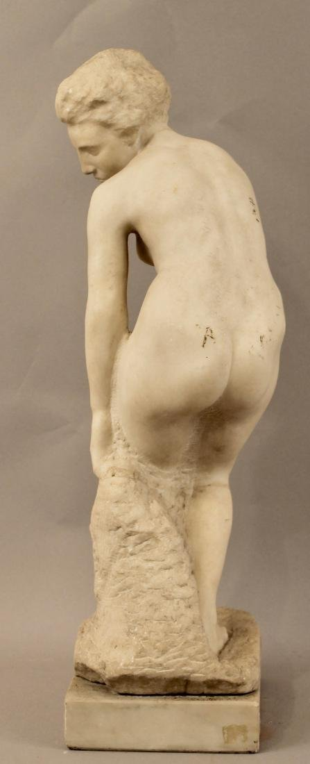 Alabaster Sculpture of Nude Woman - 6