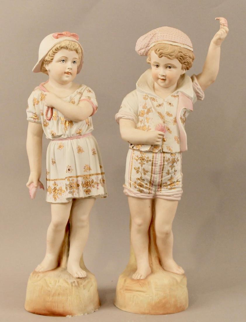 Porcelain Figurines Boy & Girl Mathcing Outfits