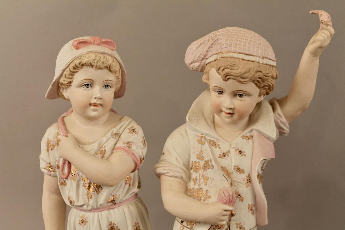 Porcelain Figurines Boy & Girl Mathcing Outfits - 2