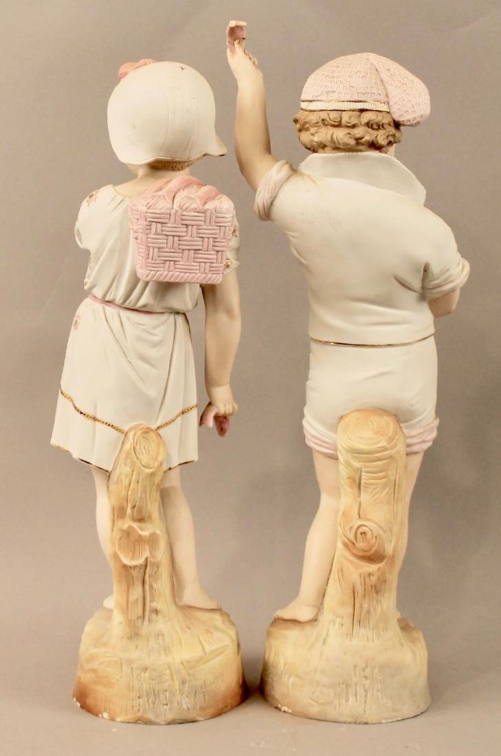 Porcelain Figurines Boy & Girl Mathcing Outfits - 4