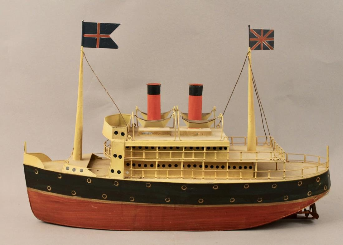 Tin British Cruise Ship Model