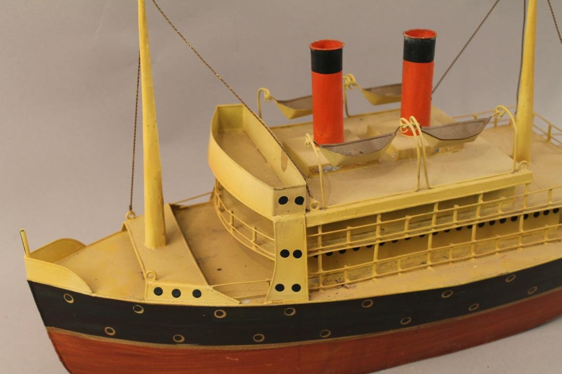 Tin British Cruise Ship Model - 2