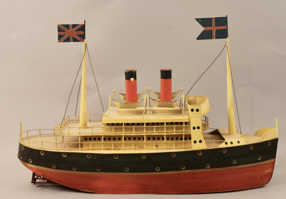 Tin British Cruise Ship Model - 4