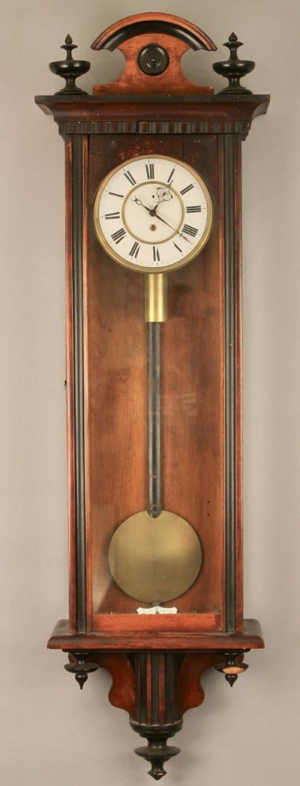 Walnut and Ebony Wall Clock