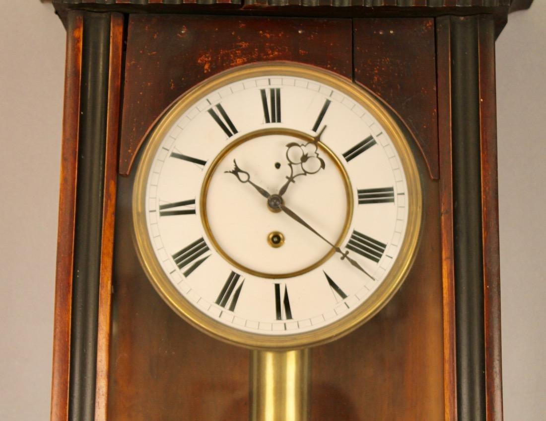 Walnut and Ebony Wall Clock - 2