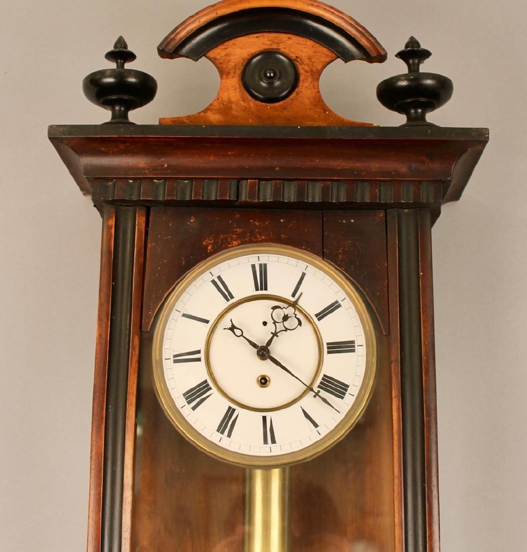 Walnut and Ebony Wall Clock - 3