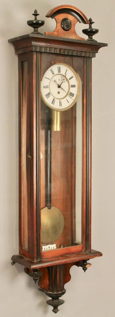 Walnut and Ebony Wall Clock - 6