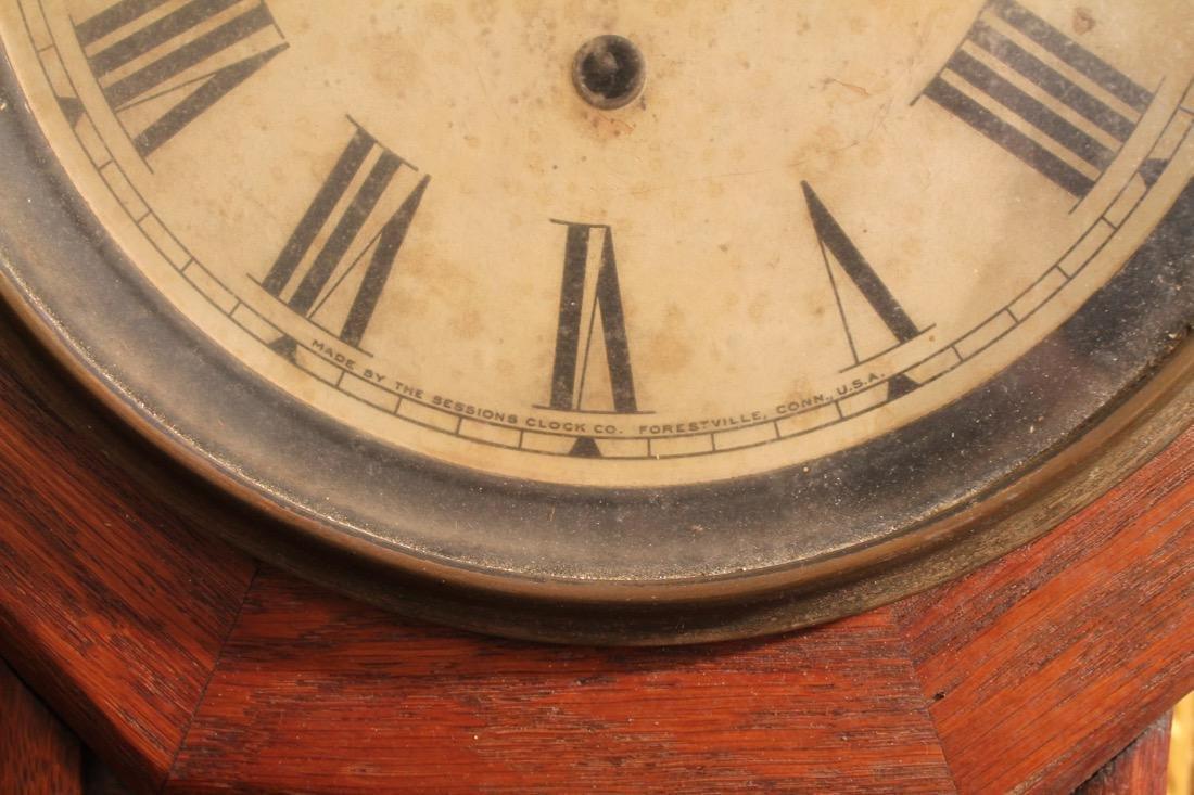 Walnut and Ebony Wall Clock - 8