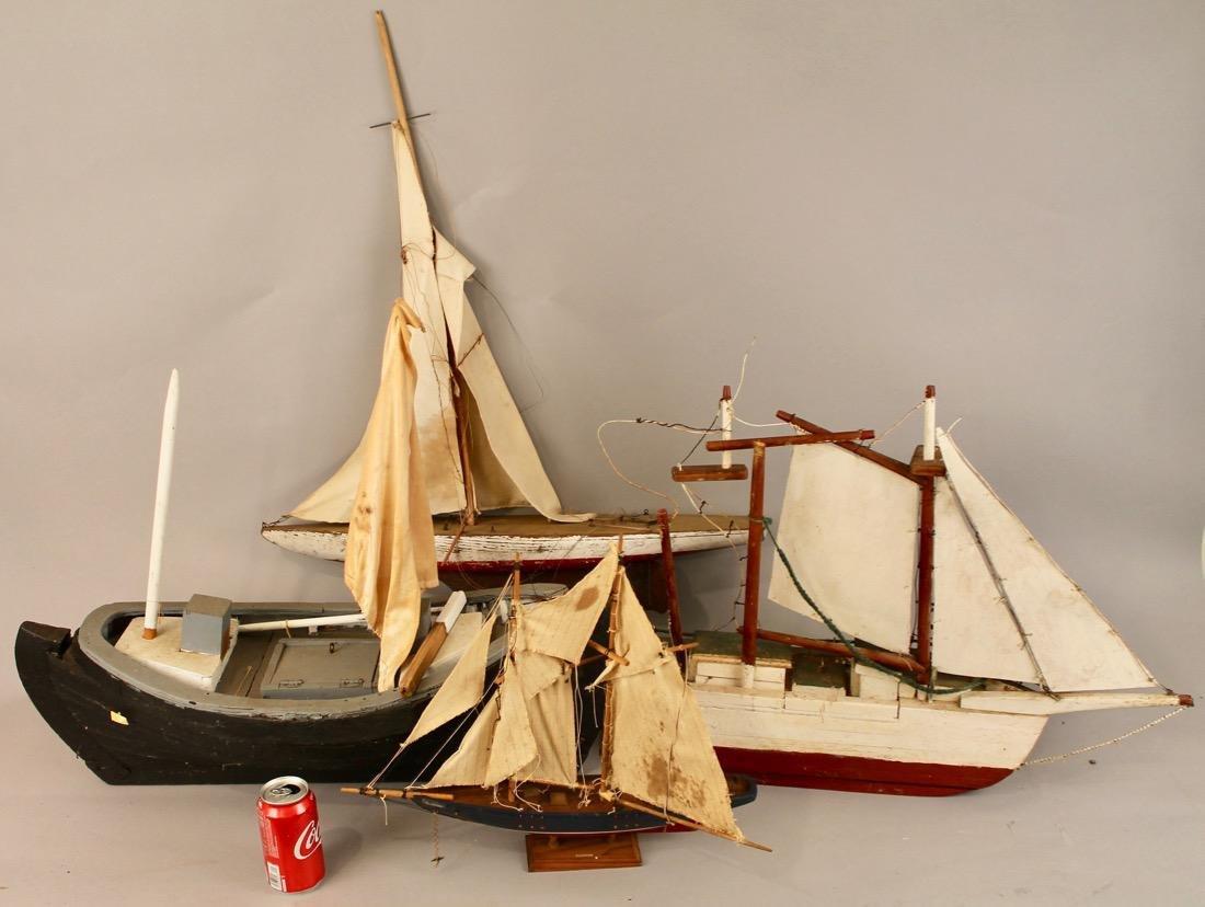 4 Vintage Boat Models