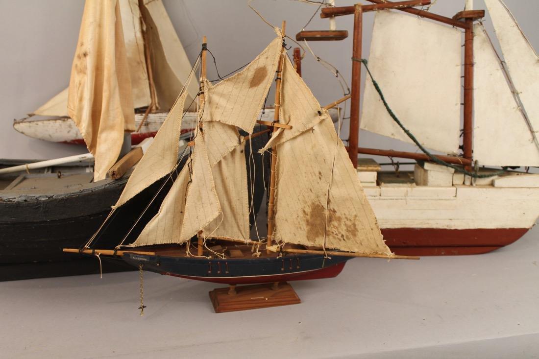 4 Vintage Boat Models - 2