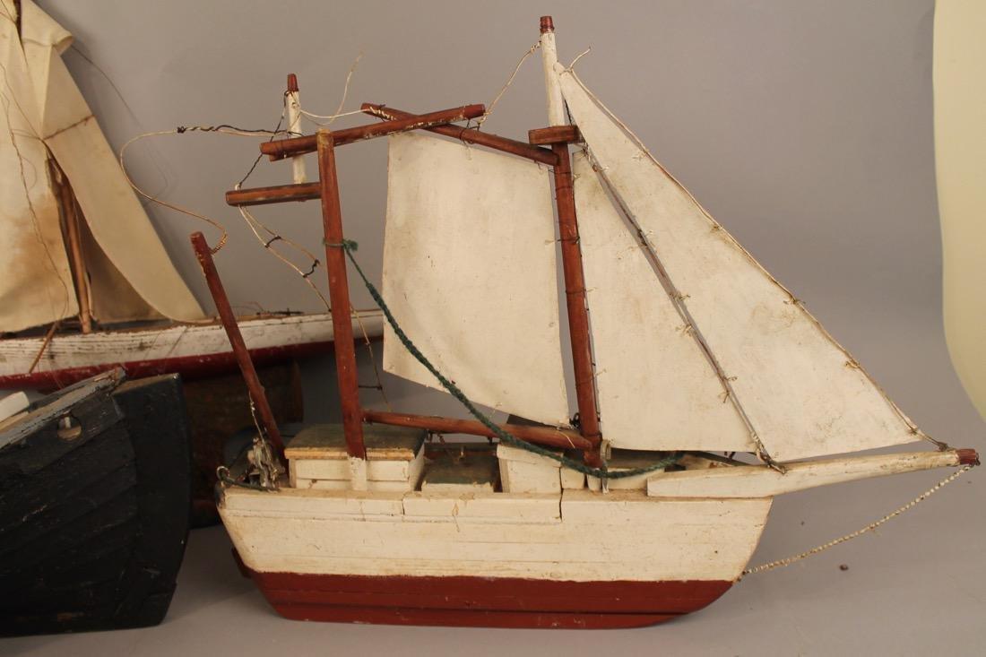 4 Vintage Boat Models - 3