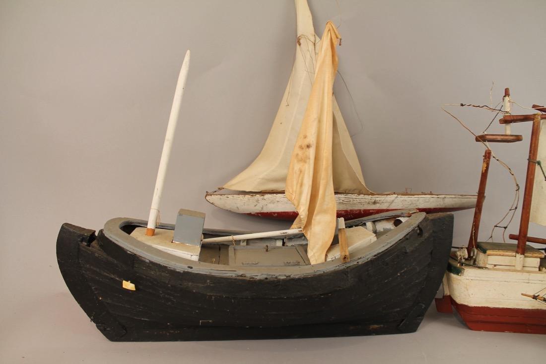 4 Vintage Boat Models - 4