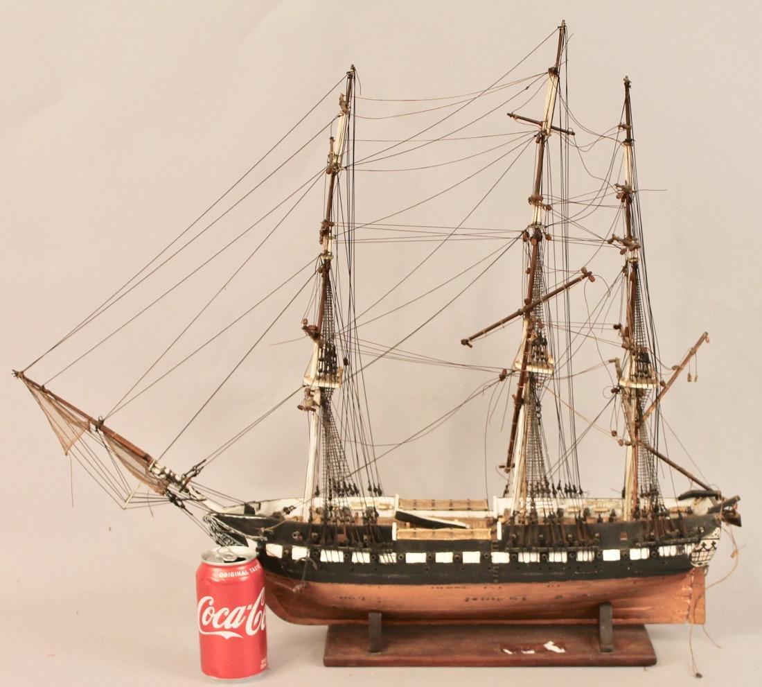 Vintage Frigate Boat Model