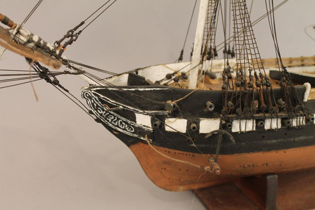 Vintage Frigate Boat Model - 2