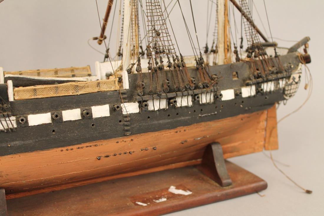 Vintage Frigate Boat Model - 3