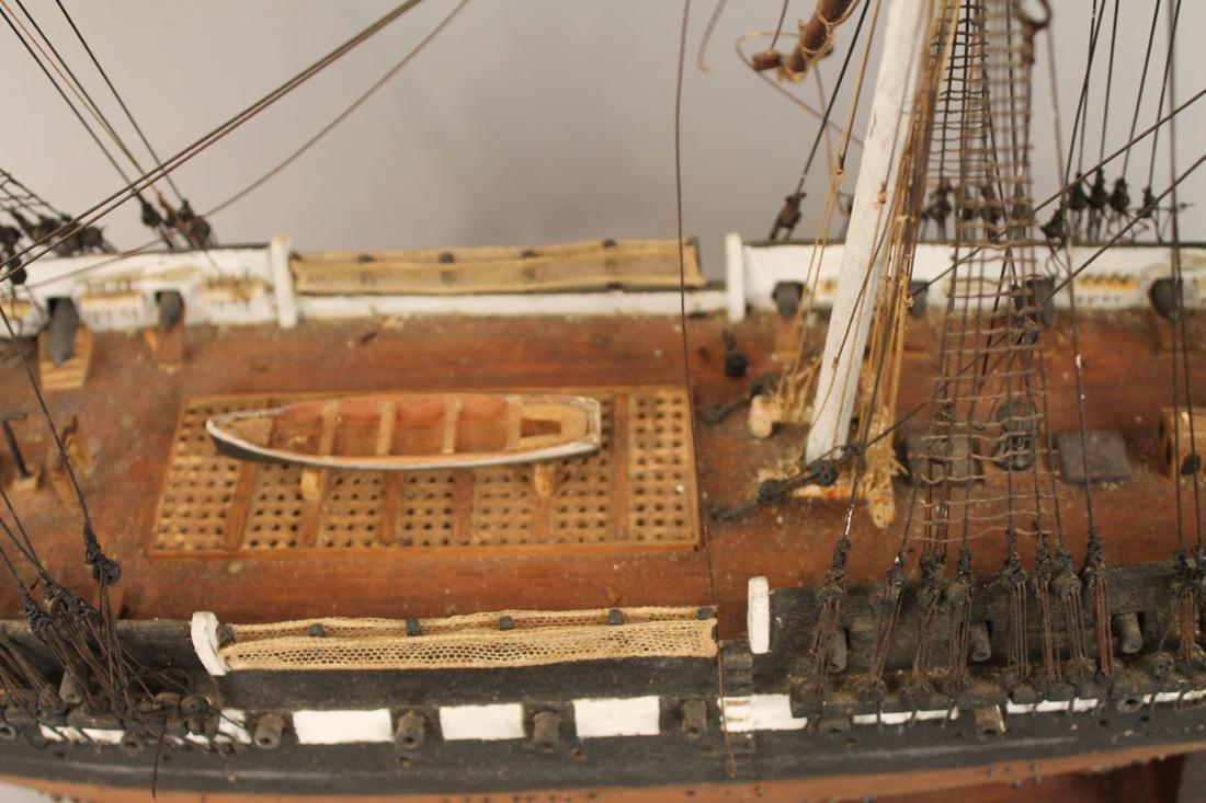 Vintage Frigate Boat Model - 4