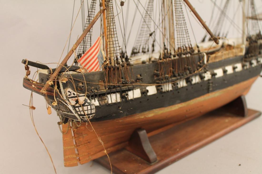 Vintage Frigate Boat Model - 7