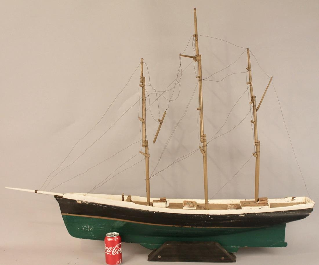 Large 3 Masted Schooner on Stand