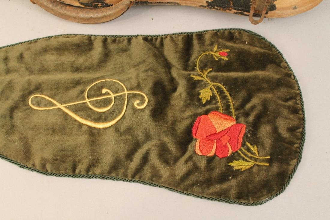 Vintage Violin in case with Embroidered Cover - 4