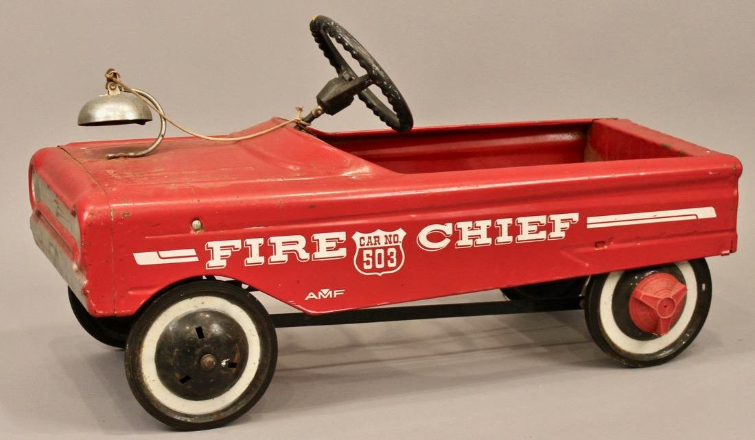 Vintage AMF Fire Chief Pedal Car