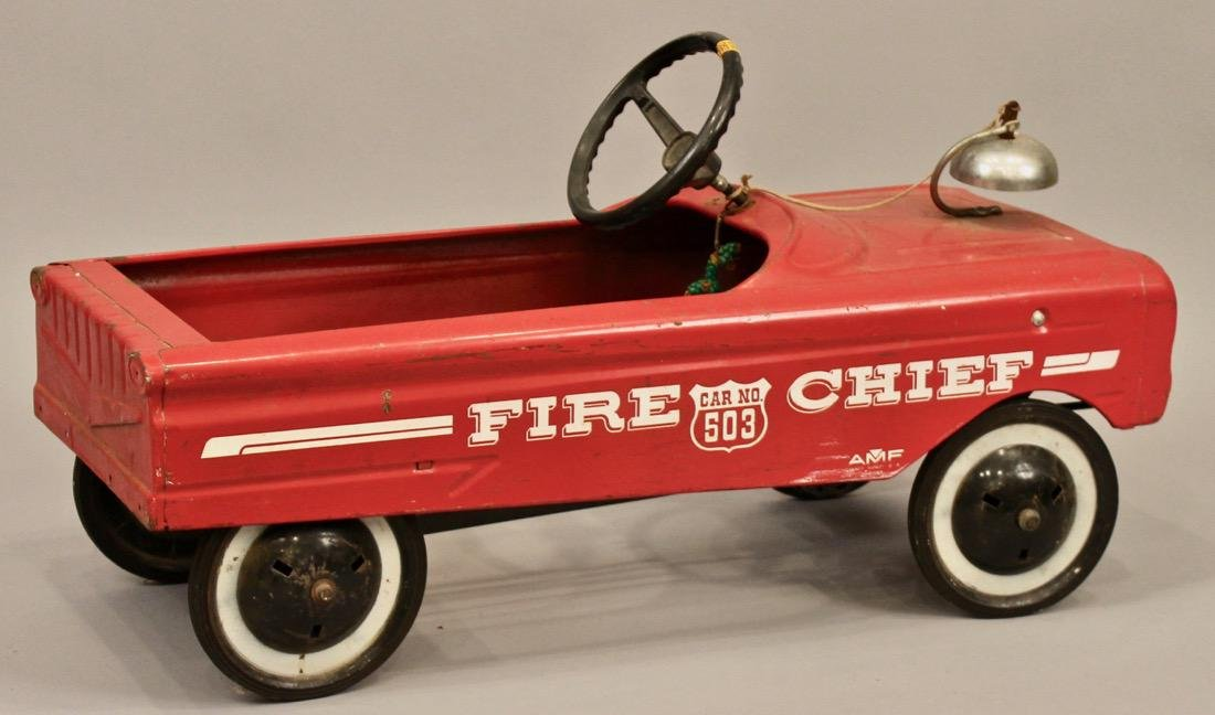 Vintage AMF Fire Chief Pedal Car - 2
