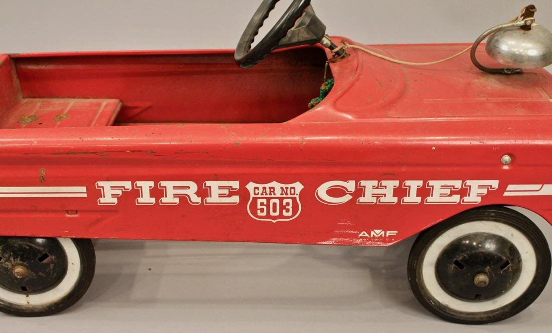Vintage AMF Fire Chief Pedal Car - 4
