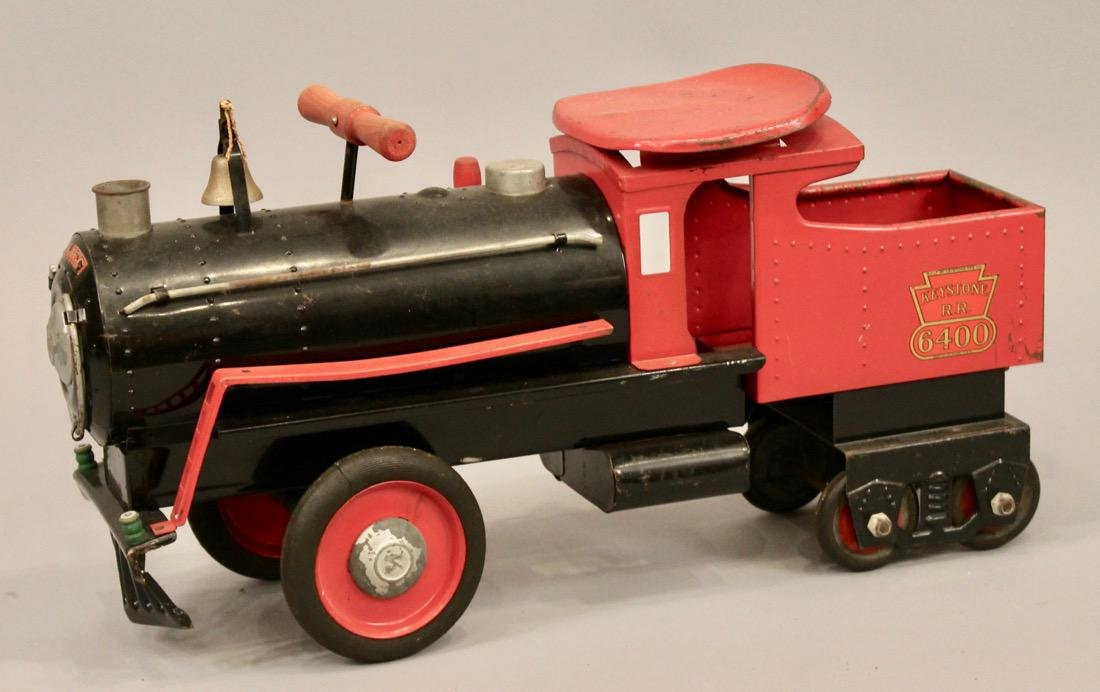 Keystone Railroad Childs Riding Toy Locomotive