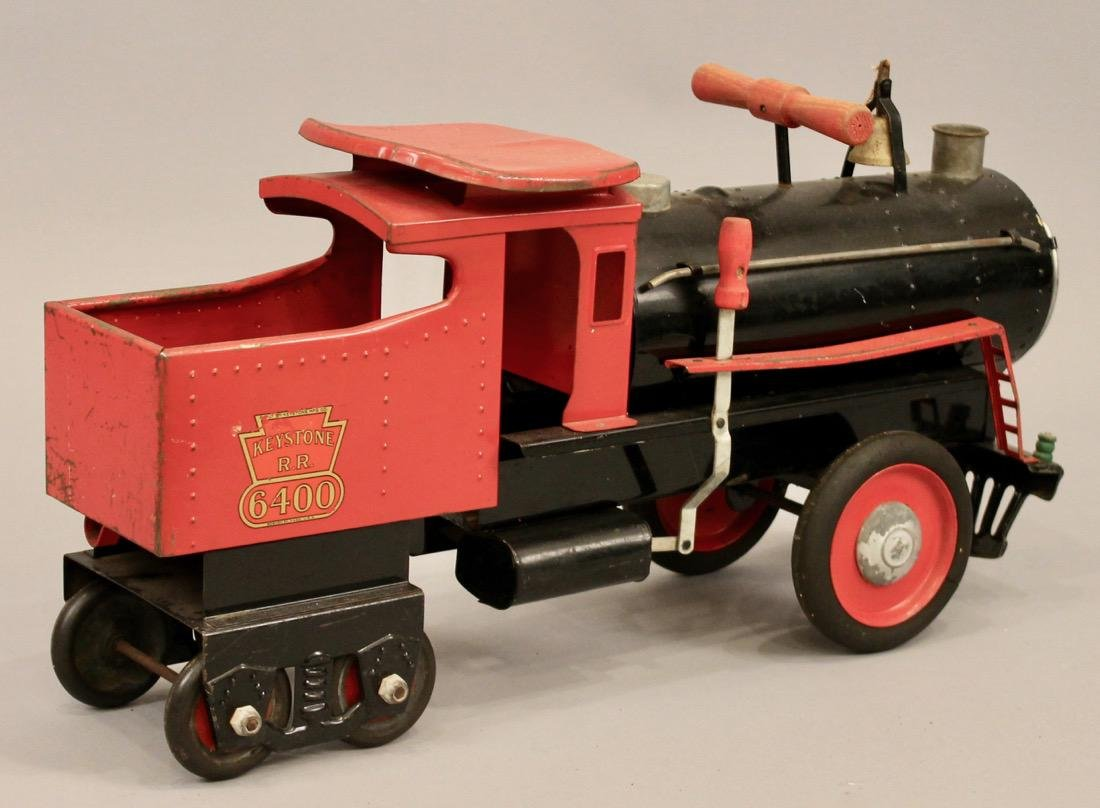 Keystone Railroad Childs Riding Toy Locomotive - 5