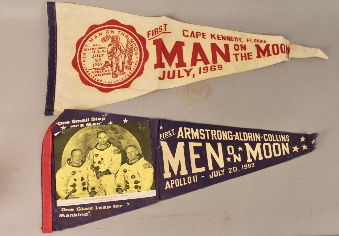 Two Man on the Moon Pennants 1969