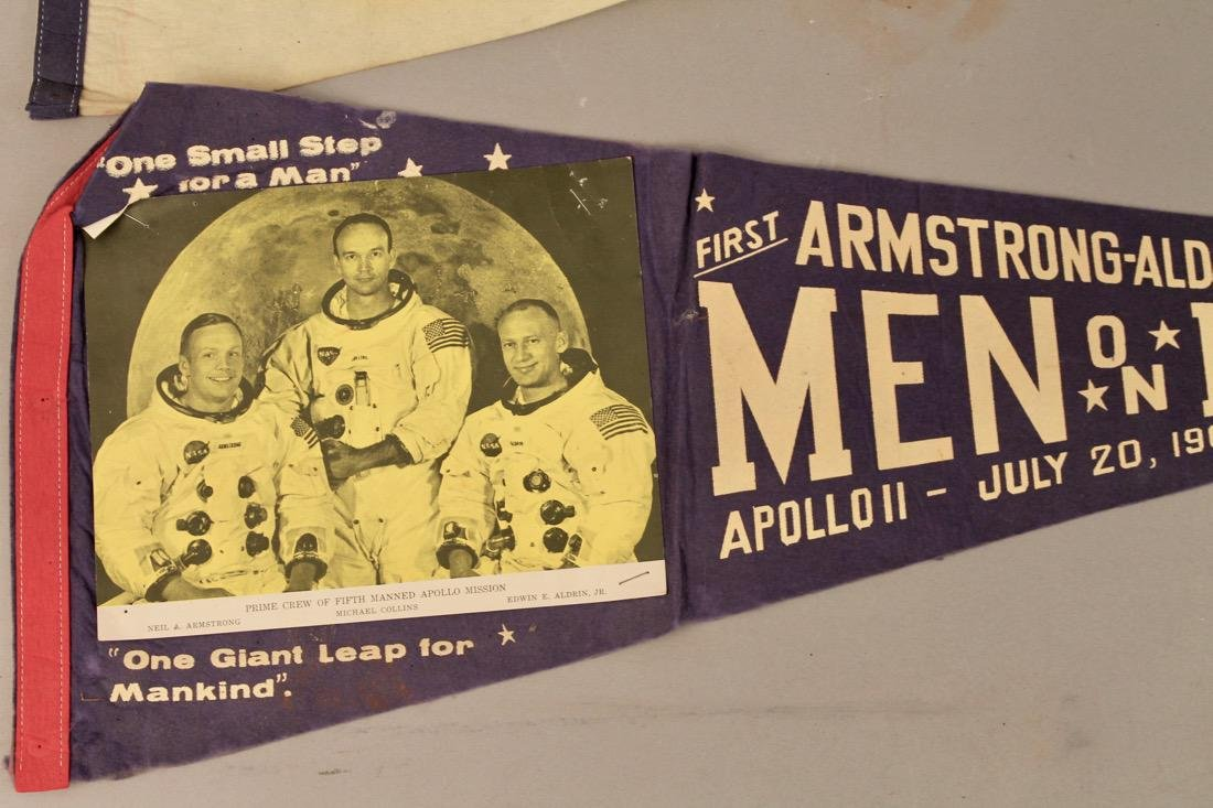 Two Man on the Moon Pennants 1969 - 2