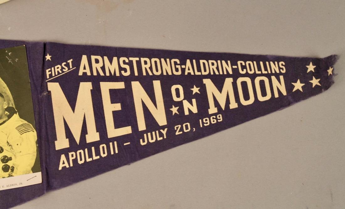 Two Man on the Moon Pennants 1969 - 3