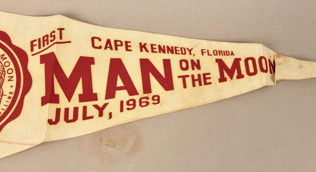 Two Man on the Moon Pennants 1969 - 4