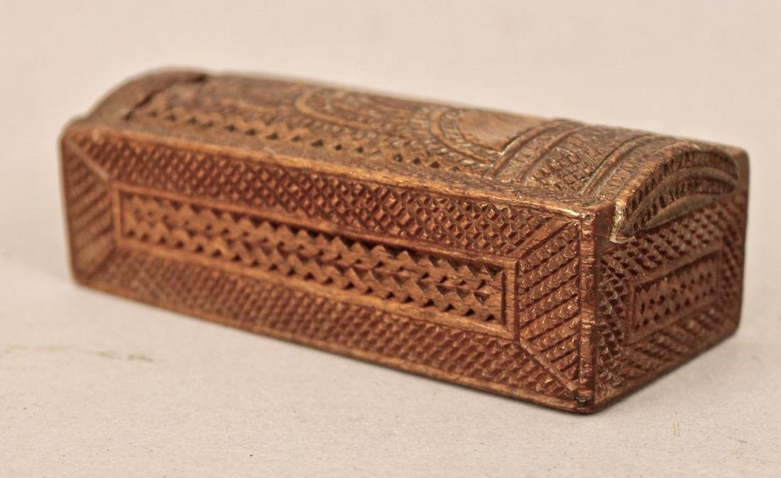 Small Sized Chip Carved Box with Sliding Lid - 2