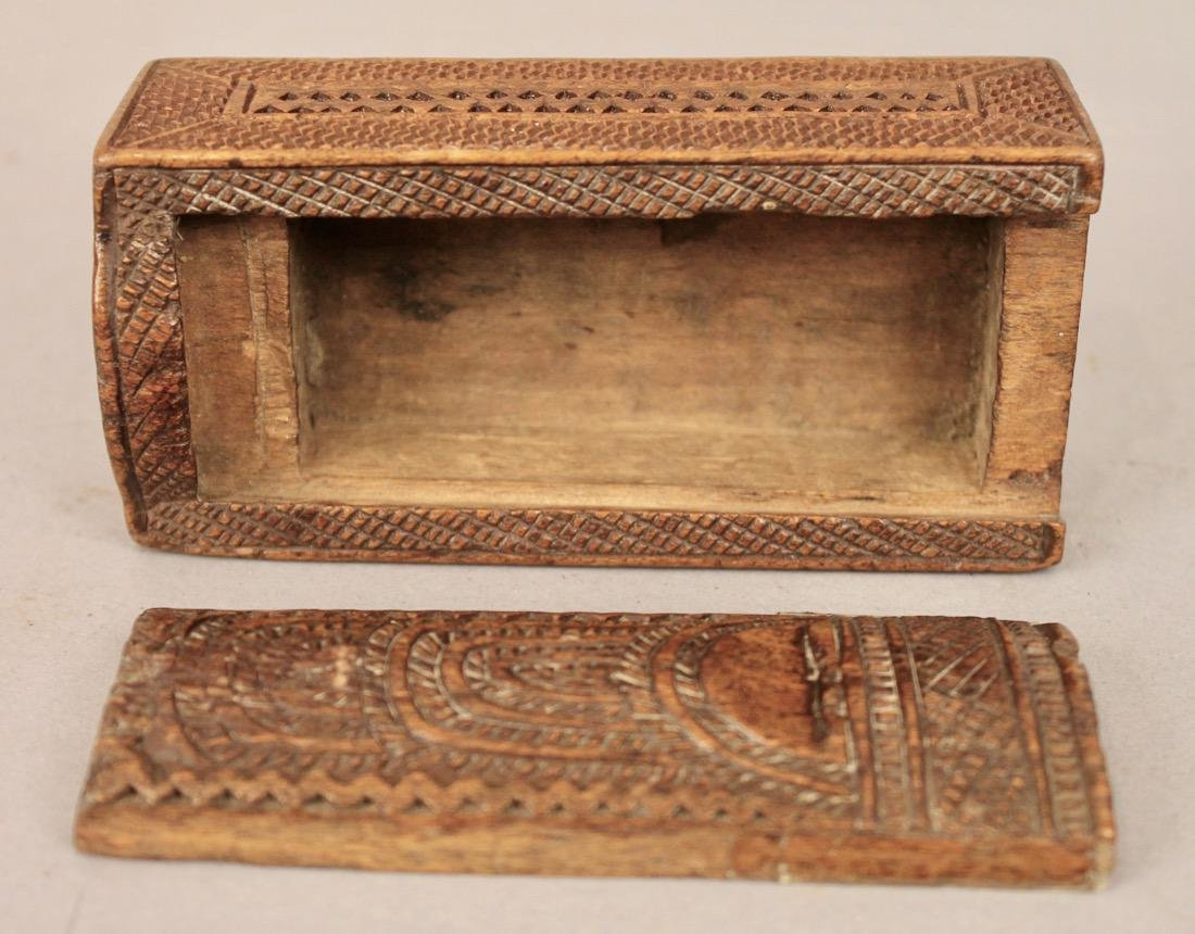 Small Sized Chip Carved Box with Sliding Lid - 3