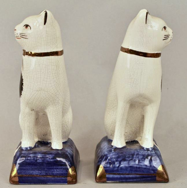 Pair of Staffordshire Cats - 2