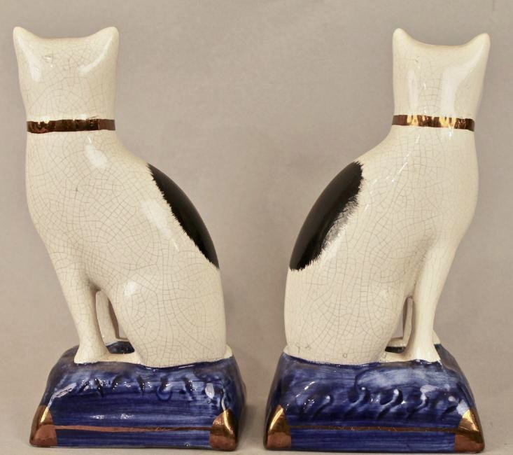 Pair of Staffordshire Cats - 3