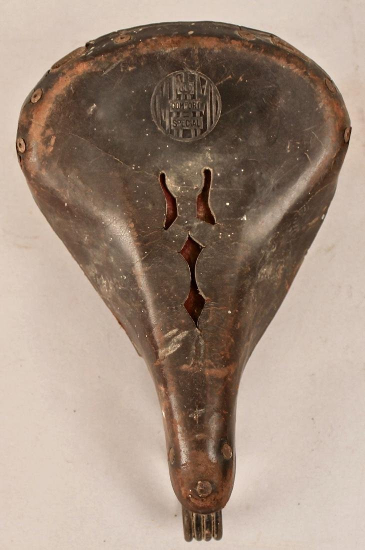 Vintage Miama Leather Bicycle Seat - 4