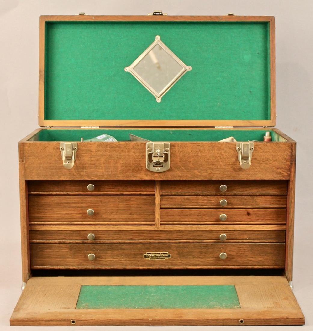 Oak Tool Chest H. Gerstner & Sons - 2