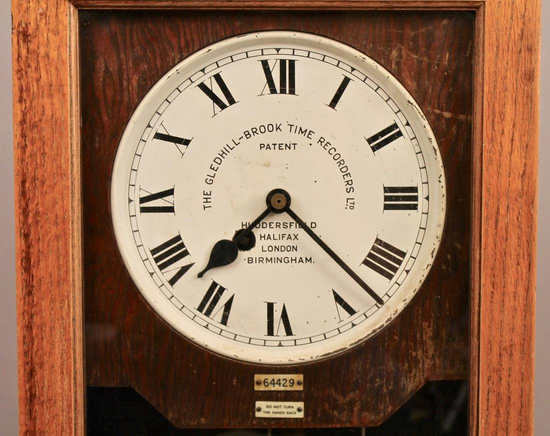 Gledhill-Brook Time Recorder Clock - 2