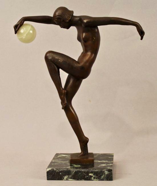 Bronze sculpture of Nude Woman signed Denis