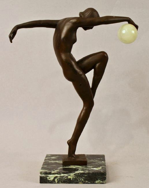Bronze sculpture of Nude Woman signed Denis - 3