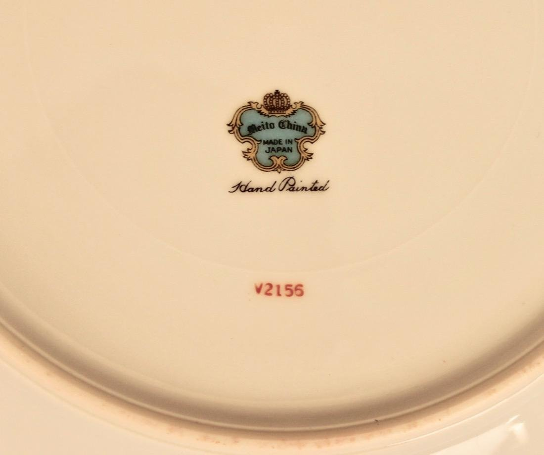 90 Piece Set of Hand Painted Meito China - 6