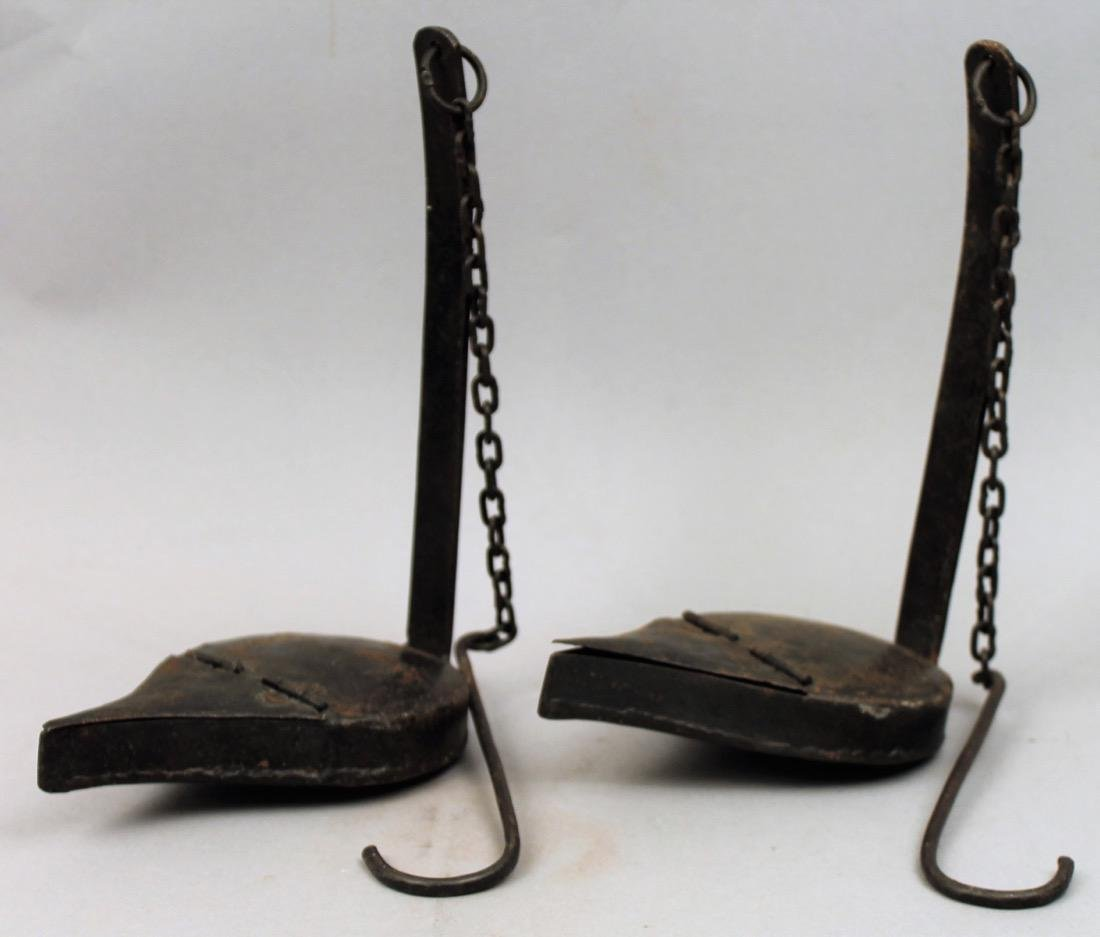 Pair of 18th/19th Century Betty Lamps