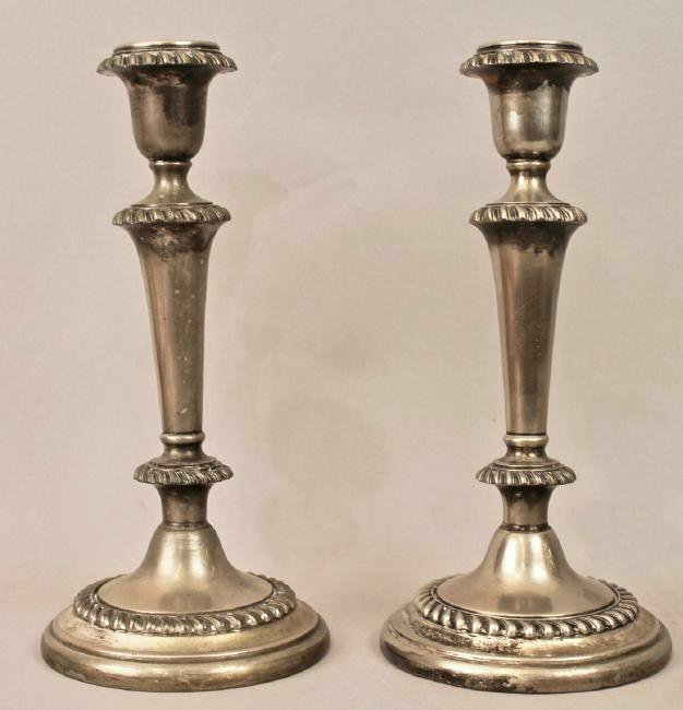 Pair of Silver Plate Candle Sticks Hallmarked