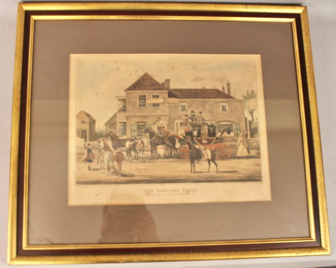 The Bedford Times Litho Old White Lion