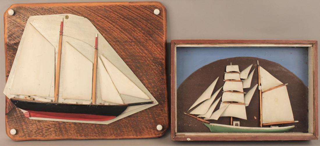 2 Sailboat Model Dioramas