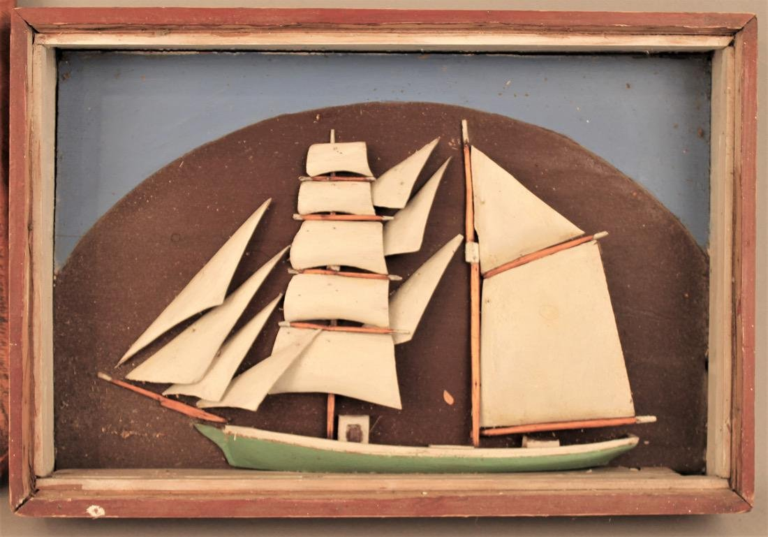 2 Sailboat Model Dioramas - 2
