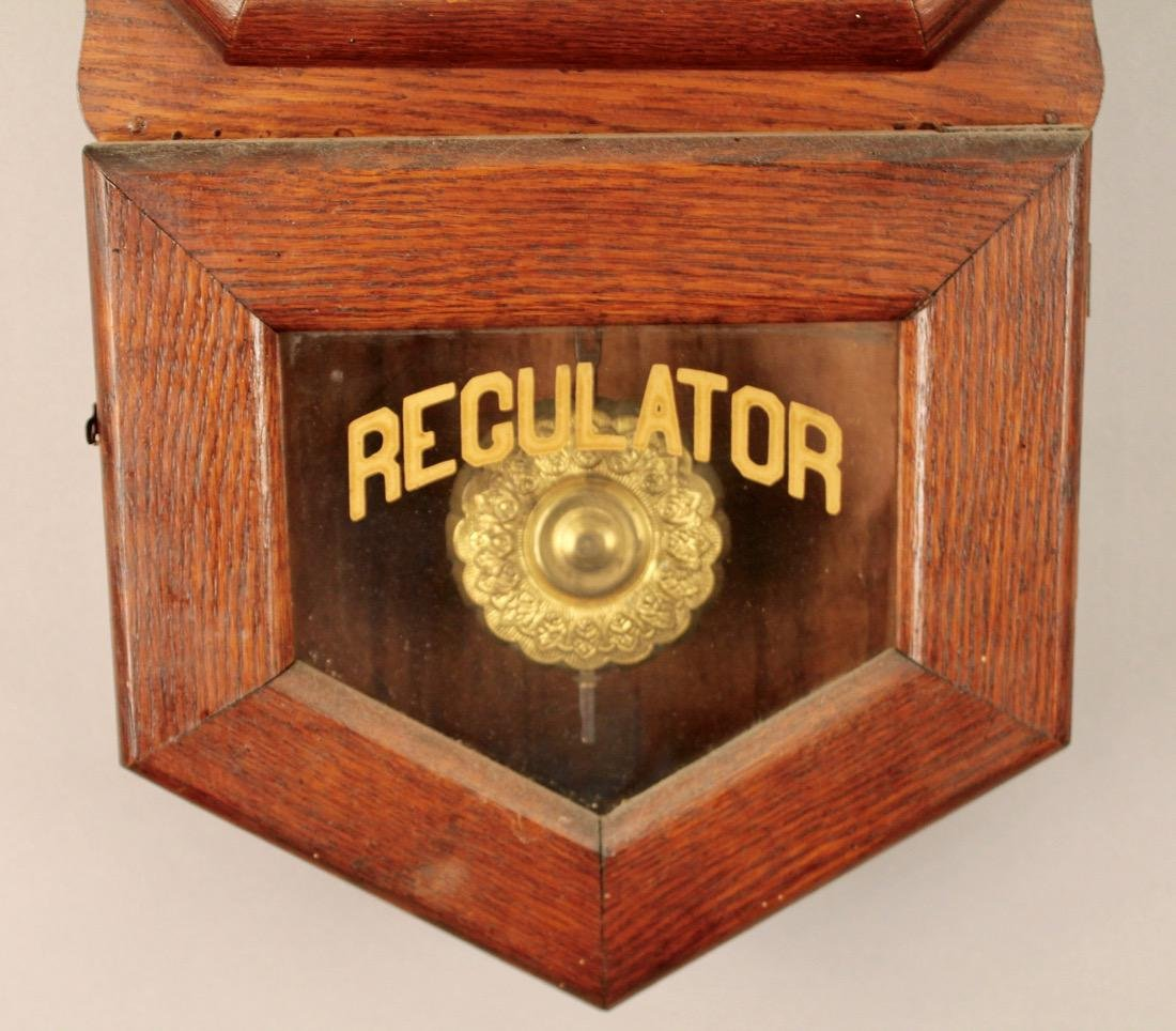 Oak Regulator Clock - 3
